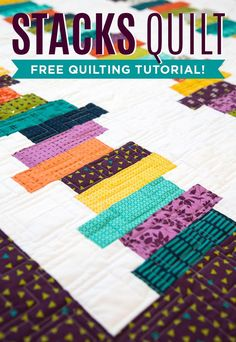"Make a simple and stunning Stacks Quilt using 2.5"" Strips of fabric with Jenny Doan of Missouri Star Quilt Co."