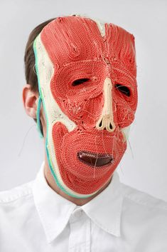 "Dutch designer Bertjan Pot's masks were the product of a failed material experiment. ""I wanted to find out if by stitching a rope together I..."
