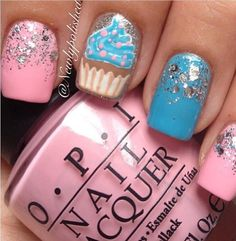 Are you ready to make your hands lovely looking with the cupcake nail art designs? Well if yes then get started because here comes the outstanding cupcake na. Fabulous Nails, Gorgeous Nails, Love Nails, Pretty Nails, Nail Polish Designs, Cute Nail Designs, Cupcake Nail Art, Teen Nails, Birthday Nails
