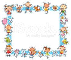 Buy Happy Kids Rectangular Frame by katya_dav on GraphicRiver. Rectangular frame with happy cartoon kids, pets and flowers Happy Cartoon, Cartoon Kids, Vector Border, Stick Family, Decorative Borders, Frame Template, Borders And Frames, Happy Animals, Writing Paper