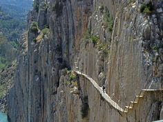 """"""" who love Spain, go to Caminito del Rey, close to Malaga, the place to discover ! Hiking Routes, Hiking Trails, Places To Travel, Places To See, Travel Destinations, Wonderful Places, Beautiful Places, Dangerous Roads, Spain Holidays"""