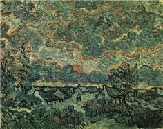 Cottages and Cypresses Reminiscence of the North  - Vincent van Gogh