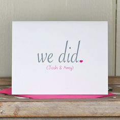 Wedding Thank You Cards / Thank You Cards  We by deanpennandpaper, $18.00