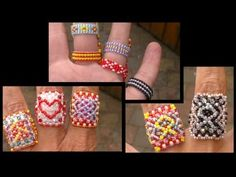 Beading4perfectionists : Super Silly Summer Ring (RAW based) beading tutorial - YouTube