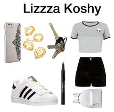 """Wednezzzday w/ Lizzza"" by foxbunnycountry ❤ liked on Polyvore featuring WithChic, adidas, BaubleBar, Nanette Lepore, River Island and Trish McEvoy"