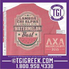 TGI Greek - Lambda Chi Alpha - Watermelon Bust - Greek T-shirts - Comfort Colors - Philanthropy #tgigreek #lambdachialpha #watermelonbust