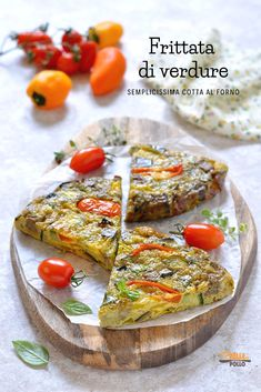 Italian Cooking, Light Recipes, Vegetable Pizza, Quiche, Good Food, Food And Drink, Antipasto, Dinner, Breakfast