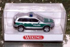 """104 25 32 Wiking Modellauto """"Polizei VW Touareg"""" in OVP vie neu"""