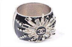 Chanel jeweled cuff