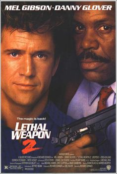 """Lethal Weapon 2"" (1989). COUNTRY: United States. DIRECTOR: Richard Donner. CAST: Mel Gibson, Danny Glover, Joe Pesci, Patsy Kensit, Joss Ackland, Derrick O'Connor, Traci Wolfe, Darlene Love, Steve Kahan"