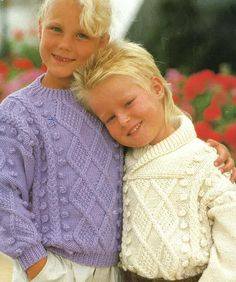 Childrens Aran Sweater Pattern PDF No. 0616  From by TimelessOne, $2.99
