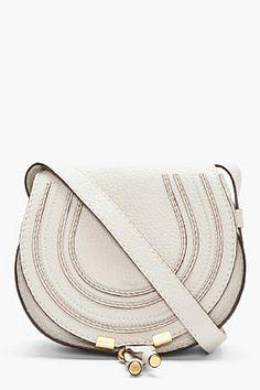 5dda2e24e5f1 CHLOE Small Dove Grey Leather Marcie Shoulder Bag Chloe Clothing