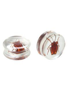 Acrylic Bug Saddle Plug 2 Pack