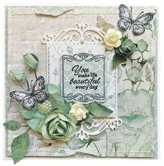 Kaisercraft Memory Lane, Stargaze and Silk Art Foam Butterfly Cards, Flower Cards, Scrapbook Supplies, Scrapbooking Layouts, Penny Black Stamps, Shabby Chic Cards, Silk Art, Craft Items, Cardmaking