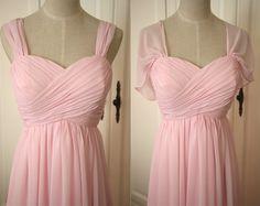 Blass rosa Sweetheart Brautjungfer Kleid mit Riemen von AlexDress