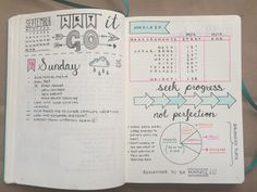 bullet journal ideas spreads that'll start your new year organized and keep your life organized include monthly, page, key, #bulletjournal