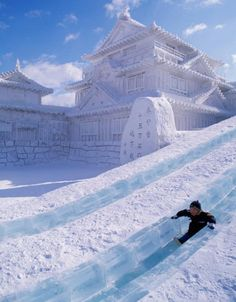 Sapporo Snow and Ice Festival in Hokkaido, Japan. Have yet to go skiing in Japan, hear it's great!