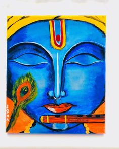 Indian Wall Decor, Krishna Painting, Krishna Love, Acrylic Canvas, Art Drawings Sketches, Acrylic Colors, Beautiful Paintings, Bold Colors, Art For Sale