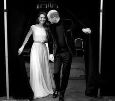 With her hand resting on his lower back as they look into each other's eyes, this behind-the-scene glimpse of the Duke and Duchess of Cambridge is both touching and intimate.