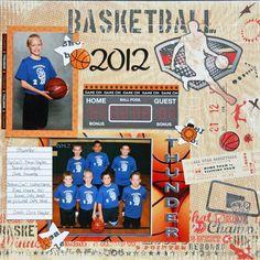 senior night basketball ideas | Basketball 2012 - Scrapbook.com