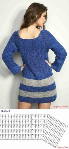 Fabulous Crochet a Little Black Crochet Dress Ideas. Georgeous Crochet a Little Black Crochet Dress Ideas. Crochet Bodycon Dresses, Black Crochet Dress, Crochet Blouse, Crochet Shawl, Diy Crochet, Crochet Top, Crochet Stitches Chart, Necklines For Dresses, Crochet Designs