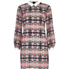 Black Chelsea Girl aztec floral print dress #riverisland #chelseagirl