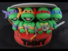 How To Make Fondant Ninja Turtles Tutorial on Cake Central