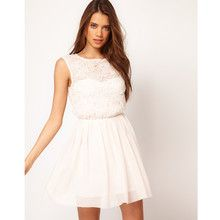 Skater Dress With Rose Mesh