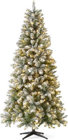7 Foot Pre Lit Bristol Flocked Christmas Tree