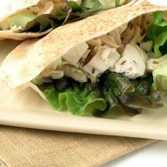 Roast Chicken Pitas with Cumin-Lemon Dressing by Cooking Light