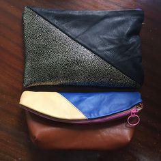 Some new bags I've made recently. #leather #clutch #cluchbag #imakefashion #sewnz #idaclutch #isew