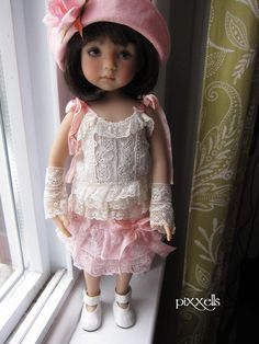 "Antique IS ""NEW"" Dianna Effner Little Darlings 13"" Studio Dolls BY Pixxells 