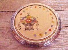 Art Deco Trivet- Plate- Basket Design-Vintage-1930s via Etsy