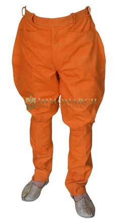 Traditional Jodhpur riding pants breeches for girls and men made in red color corduroy fabric. Baggy Pants, Harem Pants, Horse Riding Pants, Hunting Pants, Riding Breeches, Orange Pants, Western Riding, Jodhpur, Equestrian Style