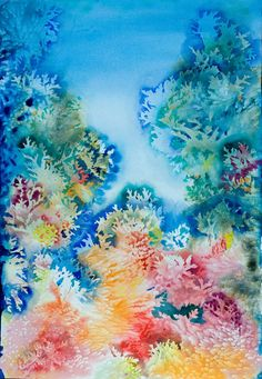CORALS Original Water color painting by NewEarthGallery on Etsy, $600.00
