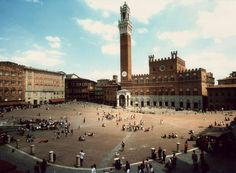 Siena, a city in Tuscany (Italy)... goal is to make it back for the Palio, the horse race held in the Piazza del Campo!