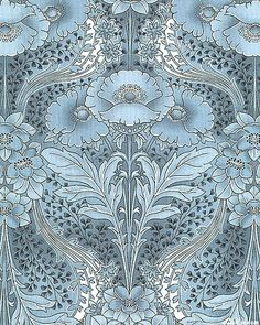 Soft blue floral pattern [looks very much like William Morris' A&C designs, but there is no notation regarding artist.] Posted via lovelittledreamerthings-deactiv