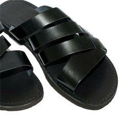 Men Black Leather Sandals, via www.sandalishop.it. Men's Spring Summer Fashion.