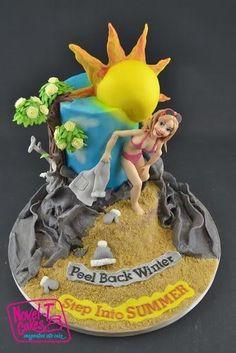 Sweet Summer Collaboration Cake - Cake by Novel-T Cakes