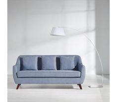 Schicker Dreisitzer in Blau - für entspannende Stunden im Wohnzimmer