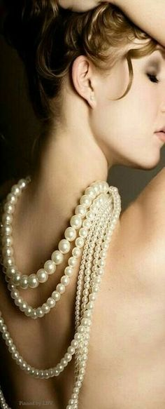 Pearls are always Classy & Elegant Pearl Jewelry, Pearl Necklace, Pearl And Lace, Boudoir Photography, Boudoir Photos, Girls Wear, Girly Girls, Girls Best Friend, Jewelry Accessories