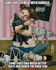 Reminds me of my friend's little girl. Her Daddy is a stormtrooper, so she plays with stormtrooper toys!