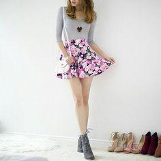 Teenager floral skirt