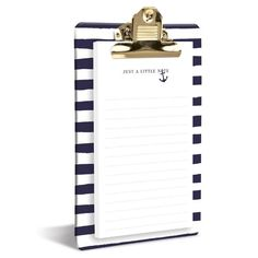 Graphique de France Navy Blue Anchor Clipboard and Notepad at The Paper Store
