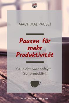 Ist euch bewusst, dass Pausen eure Produktivität erhöhen und auch warum das so ist? Im ersten Moment denkt man zwar, ich kann mir jetzt keine Pause gönnen, sonst schaffe ich das nie, jede Minute zählt. Aber oft ist Entschleunigung und Innenhalten die Quelle für neue Inspiration.  #Bewegung #BulletJournal #Entspannung #Kalender #Pause #Produktivität #Regeneration #Stress #ToDoListe