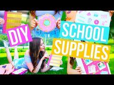 DIY School Supplies! Back To School Notebooks, Binder, Pencil Case + More 2016-2017 - YouTube