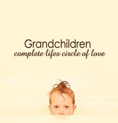 Household Words  Grandchildren Complete Lifes Circle of Love Wall Decal for grandparents gift. $19.00, via Etsy.