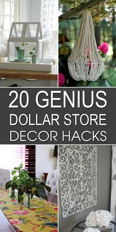 Here are some clever ideas to spruce up your home decor on the cheap.