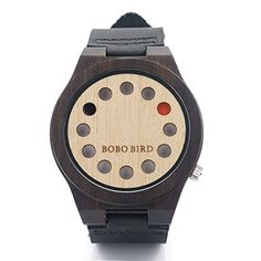 BOBO BIRD Unisex Bamboo Wood Watches 12 Holes Timer Design With Cowhide Leather Strap Analog Quartz Wrist Watch Best Xmas Gift >>> Continue to the product at the image link-affiliate link. #ChristmasGiftsForMen