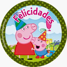 Etiqueta redonda de Peppa Pig Peppa Pig Gratis, Peppa Pig Printables, Cumple Peppa Pig, George Pig, Pig Party, Bday Girl, Fiesta Party, Alice, Birthday Party Decorations
